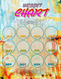 Pretty Monthly Weight Chart Fillable template