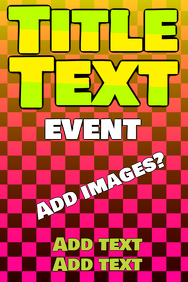 pretty pink squares with green and yellow text