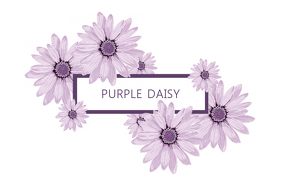 Pretty Purple Title/Label Template Etiket