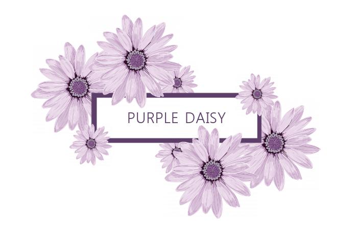 Pretty Purple Title/Label Template Etiket