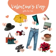 Pretty Valentine's Day Gifts for Her Instagra Instagram Post template