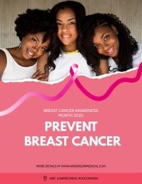 Prevent Breast Cancer Animated Flyer 传单(美国信函) template
