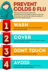 Prevent Colds & Flu Poster template