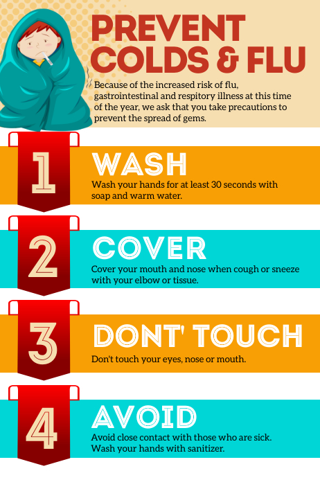 Prevent Colds & Flu Poster