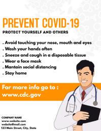 prevent covid-19 flyer template