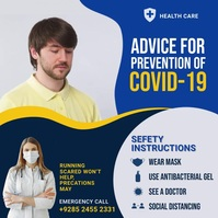 PREVENTION OF COVID-19 Template Instagram-opslag