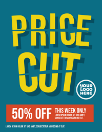 Price Cut Sale Flyer