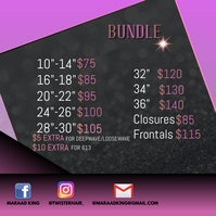 Price List Flyer Instagram Post template