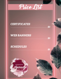 price list flyer template