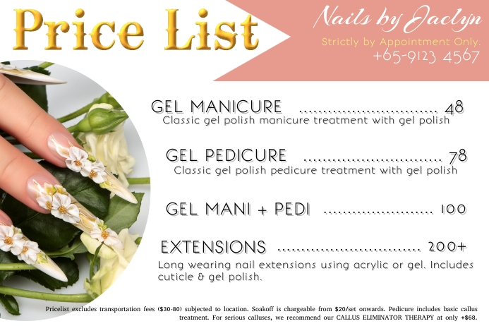 Price List for Beauty