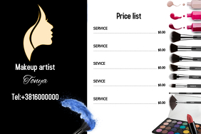 Price list Makeup artist