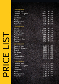 Price List Menu Card Drinks Food Offer Flyer