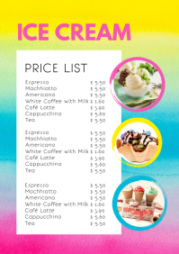 Price List Menu Card Offers Business Flyer A4 template