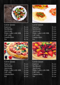 Price List Menu Card Recipe Bar Restaurant Ad