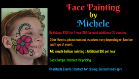 Face painting business cards best painting 2018 colorful modern painting business card design for a pany by colourmoves