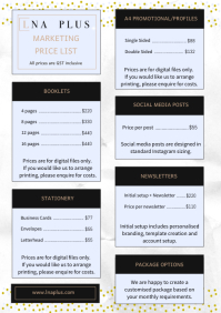 Pricing List