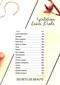 Pricing Menu Pricelist Prices A4 Size template
