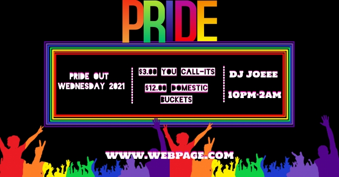 Pride concert FB template