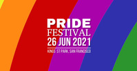 Pride Facebook begivenhed cover template