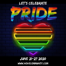 Pride Event Instagram Template Square (1:1)