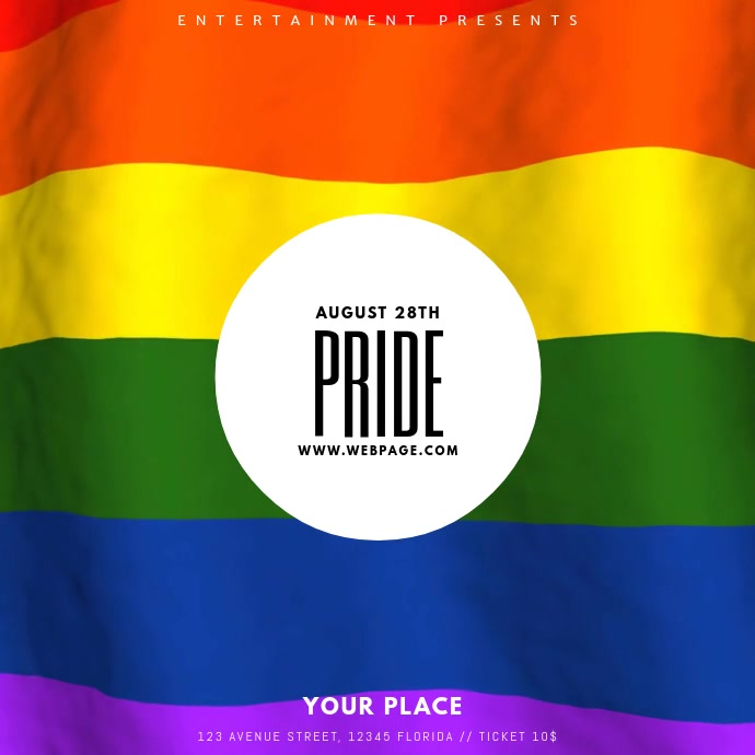Pride Event Video Template for instagram