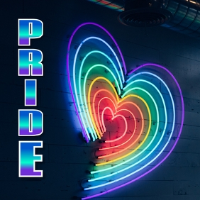Pride Fest Сообщение Instagram template