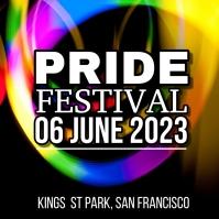 Pride Festival Square (1:1) template