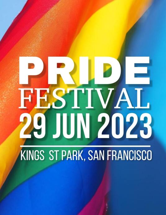 Pride Festival Løbeseddel (US Letter) template