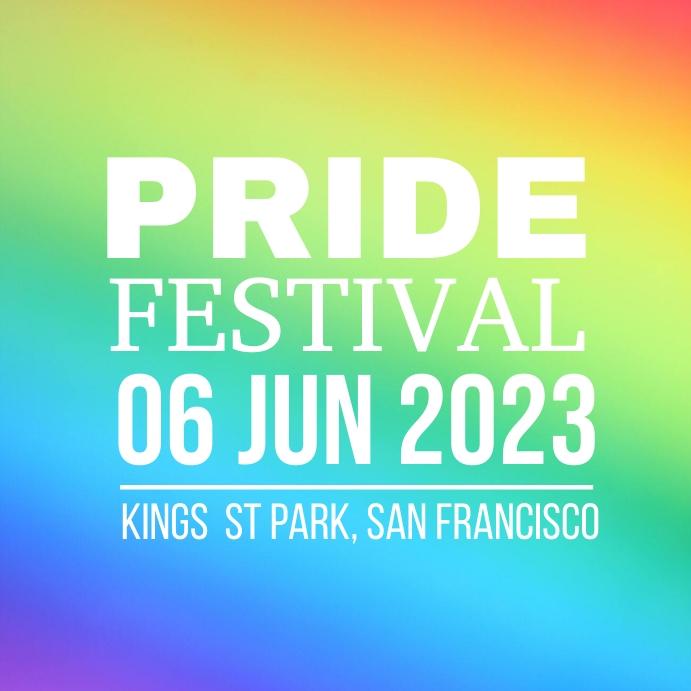 Pride Festival Kvadrat (1:1) template