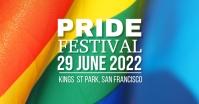 Pride Festival delt Facebook-billede template