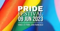 Pride Festival Facebook begivenhed cover template