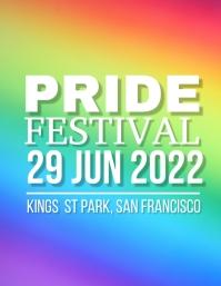 Pride Festival Flyer (US Letter) template