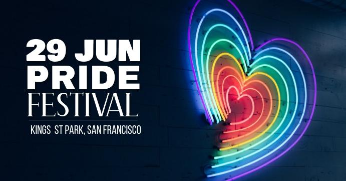 Pride FEstival Facebook Event Cover template
