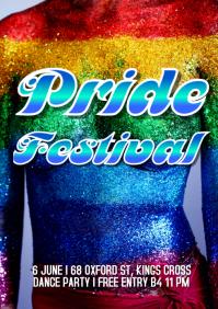 Pride festival A4 template