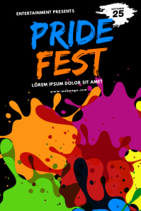 Pride Festival Event Color run flyer