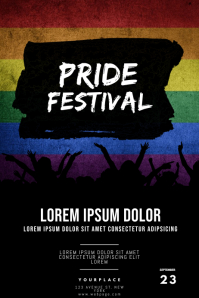 Pride Festival Flyer Template Poster