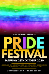 Pride Festival Poster template
