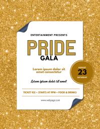 Pride Gala Parade Festival Flyer Template