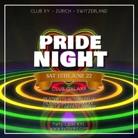 Pride Night Party Festival lgbt Event Advert 方形(1:1) template