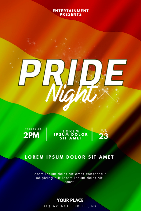 pride Night Party flyer Template