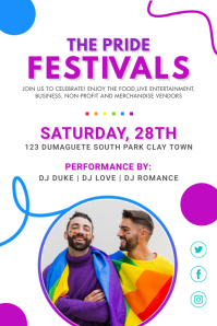Pride Party Event Invitation Poster template