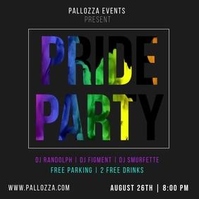 Pride Party LGBT Orgullo Gay Orgulho Rainbow Publicação no Instagram template