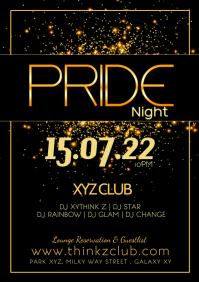 Pride Party Night Festival lgbt Event Advert