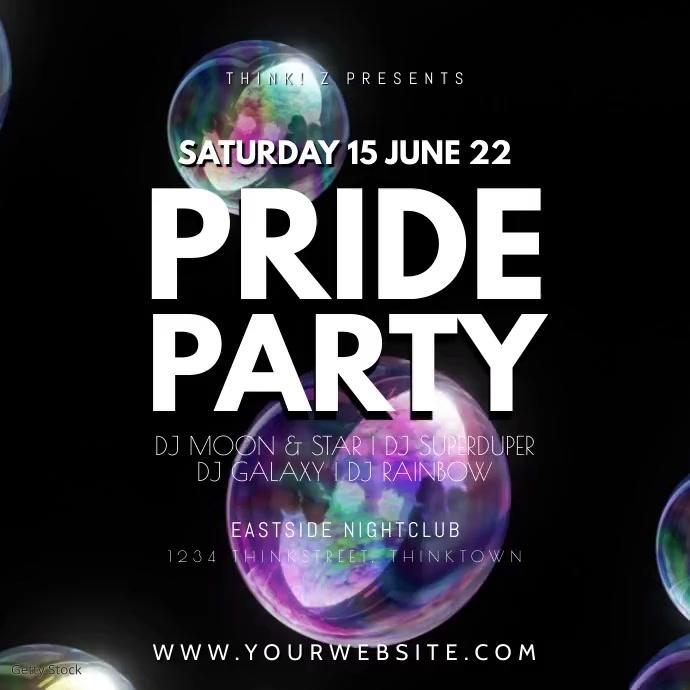 Pride party video Bubbles Soap Rainbow lgbtq