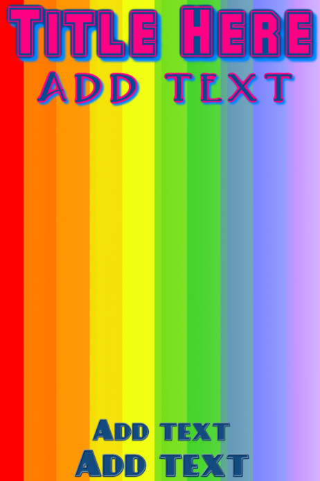 Pride rainbow flag background Template | PosterMyWall