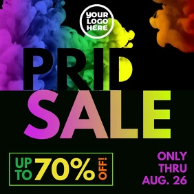 Pride Sale Color Ink Animation Gay Ad Instagram Post template