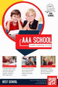 Primary School Admission Poster Template