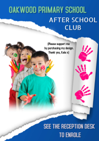 Primary School After School Club Activities A5 template