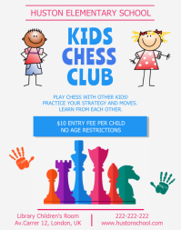Primary School Chess Club Flyer
