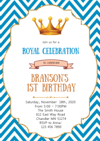Prince birthday party invitation
